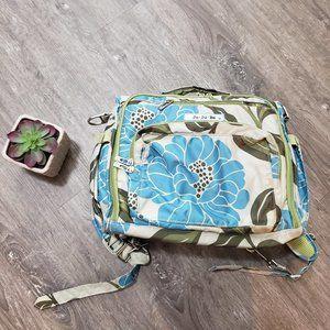 JuJuBe BFF Backpack Marvelous Mums Diaper Bag Floral Green Blue